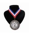 Landen lint nr. 2 medaille rood wit blauw