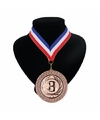 Landen lint nr. 3 medaille rood wit blauw
